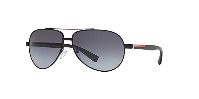 Amazon.com: Prada Sport anteojos de sol 51 NS 1bo5 W1 Negro ...
