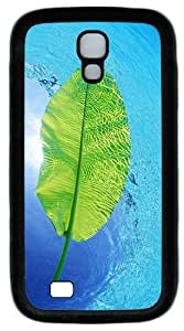 Samsung Galaxy S4 I9500 Case and Cover -Blue Waters Green Leaf TPU Silicone Rubber Case Cover for Samsung Galaxy S4 I9500¨CBlack