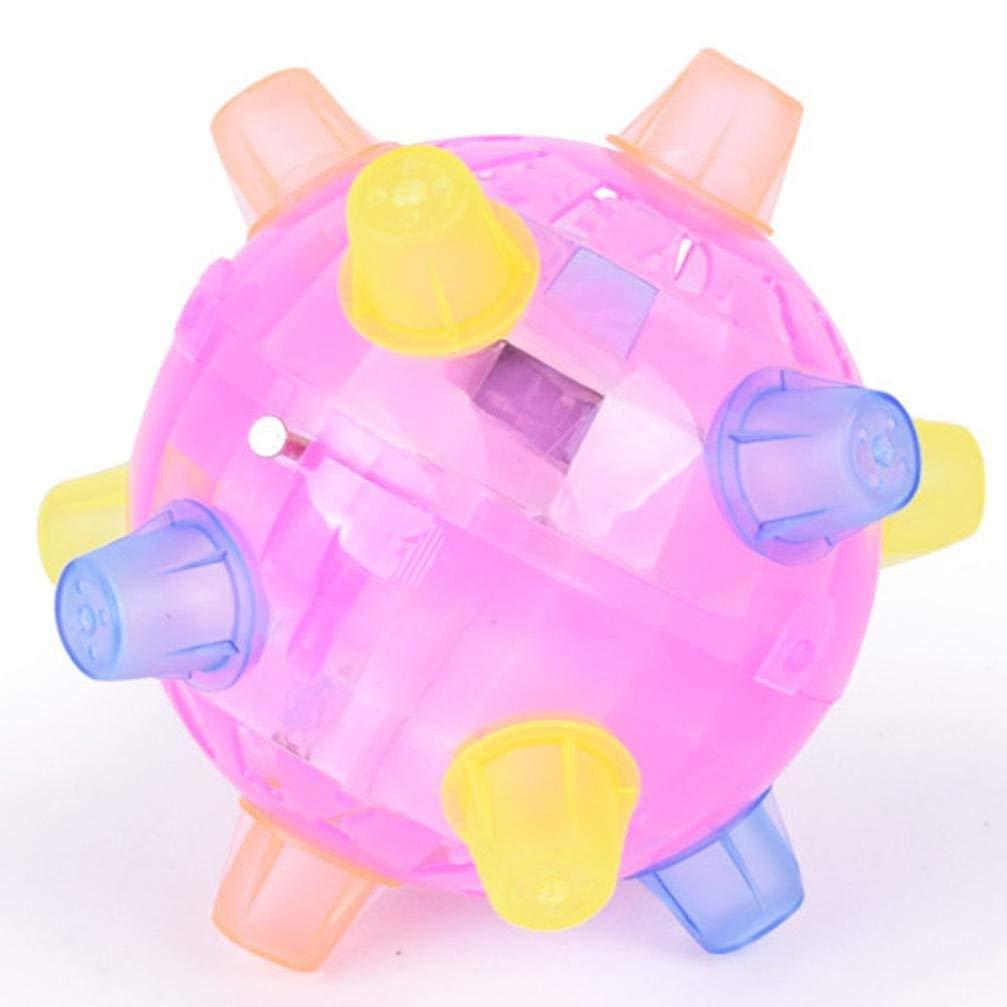 TOUYOUIOPNG Fashionable Design Fun LED Toy Kids Flashing Musical Jumping Ball
