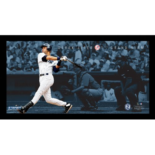 Grand Slam Framed Photo - Steiner Sports MLB New York Yankees Derek Jeter Moments 1st Grand Slam Framed 9.5x19