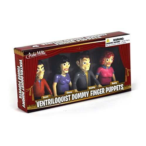 Ventriloquist Dummy Finger Puppets - Set of 4 ()