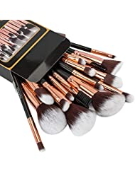 Refand Makeup Brushes Premium Makeup Brush Set 18 Pcs Professional Makeup Kit Rose Gold Black