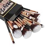professional Refand Makeup Brushes Premium Makeup Brush Set 18 Pcs Professional Makeup Kit Rose Gold Black