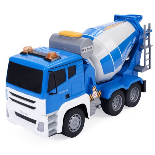 Goplus 1/18 5CH Remote Control RC Concrete Mixer Truck Kids Large Toy Gift New by Unbranded