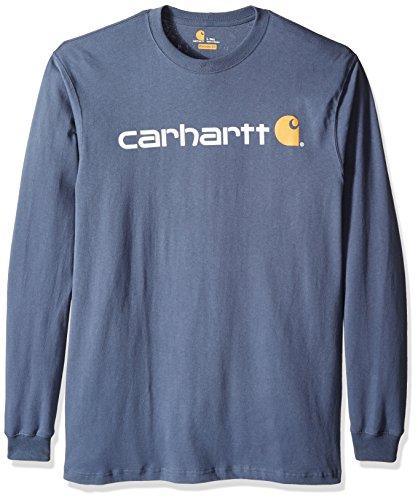 Carhartt Mens Big & Tall Signature Logo Jersey Long Sleeve T-Shirt Graphic