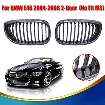 Hello Kitty parte de fibra de carbono negro riñón parrilla de la parrilla frontal capucha nariz para BMW E46 2door Coupe 2004 - 2006: Amazon.es: Coche y ...