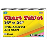 Top Notch Teacher TOP3842BN Chart Tablet 16X24 Assorted Blank, MultiPk 3 Each