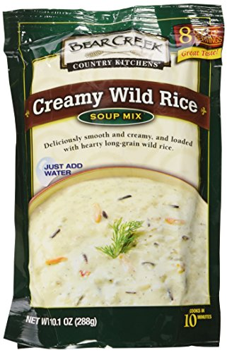 Bear Creek Country Kitchens Dry Soup Mix 6-Pack: 2 Chicken Noodle, 2 Creamy Wild Rice, 2 Cheddar Broccoli, Each Package Makes 8 Hearty One-Cup Servings, Just Add (Creamy Chicken Wild Rice)