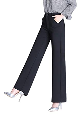 0c8565490 AvaCostume Women's High Waist Palazzo Trousers Wide Leg Dress Pants, ...