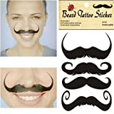 DGI MART Fans Personal Decorative Funny Beard Mustache Temporary Transfer Tattoo Decor Decals - Style 3