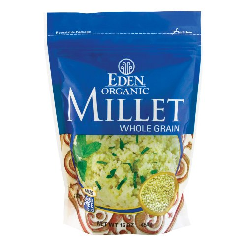 EDEN Millet, Whole Grain,16 -Ounce Pouches (Pack of 12) by Eden