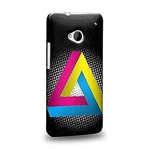 Case88 Premium Designs Art Penrose Tiling CMYK Protective Snap-on Hard Back Case Cover for HTC One M7