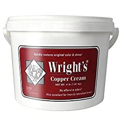 Wright\'s 11121-00321 4 Pound Tub Cream Copper Polish