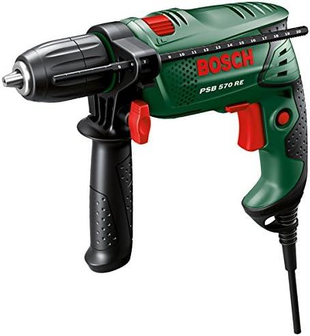 Bosch PSB 570 RE Perceuse /à percussion bague de friction dans le b/éton : 10 mm//1,6 kg//570 W set forets mallette /Ø de per/çage max