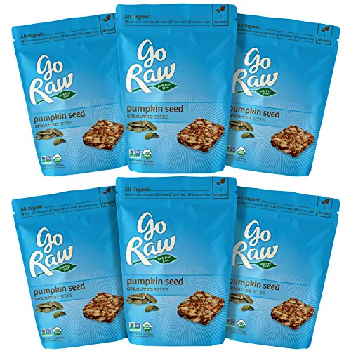 Go Raw Organic Sprouted Superfood Mini Bites, Pumpkin Seed (pack of 6 bags)