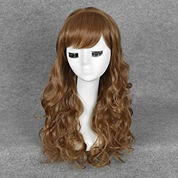 OOFAY JF® Harry Potter Hermione Jean Granger cosplay peluca larga para mujer pelucas onduladas marrones