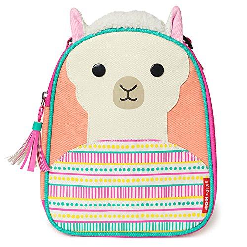 Skip Hop Zoo Kids Insulated Lunch Box, Luna Llama, Pink