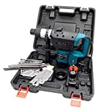 Selva Multipurpose 1-1/2'' SDS Electric Hammer Drill Rotary Demolition Set with Variable Speed | Heavy Duty High Speed Powerful Motor with Non Slip Handle | Perfect Time Saver Durable Tool Kit Blue