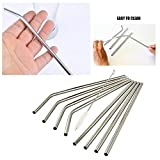 Straws | 8 Premium Stainless Steel Drinking Straws | BONUS Ice Cube Tray | cleaning straw brush & FREE Ebook. Fits Yeti Ozark Trail SIC & RTIC Tumblers | Replacement straws | Krazy straws | Fun Straws