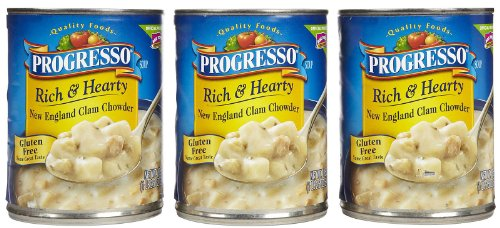 Progresso Rich & Hearty Soup - New England Clam Chowder - 18.5 oz - 3 pk ()