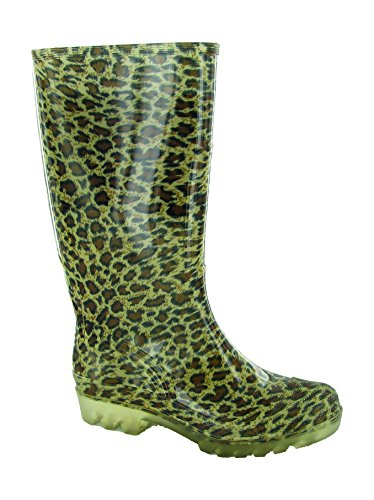 Ladies On Long PVC Pull Black Cotswold Welly Patterned Wellington Multicoloured SfwqHxa4