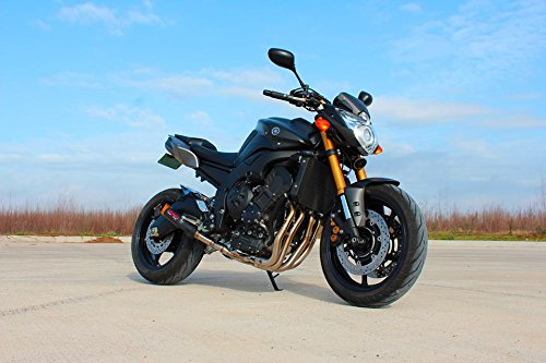Coffman's Shorty Exhaust for Yamaha FZ8 (2011-13) Sportbike with Black Tip by Coffman's (Image #3)'