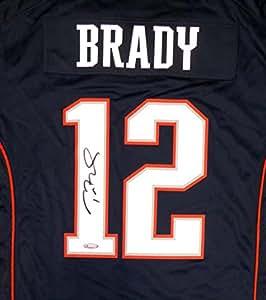 New England Patriots Tom Brady Autographed Blue Nike Jersey Size L - TriStar COA
