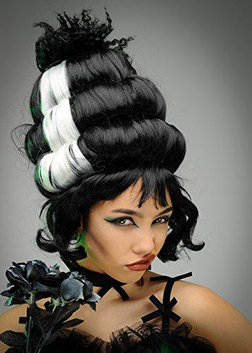 Womens Tall Black Frankensteins Bride Wig]()