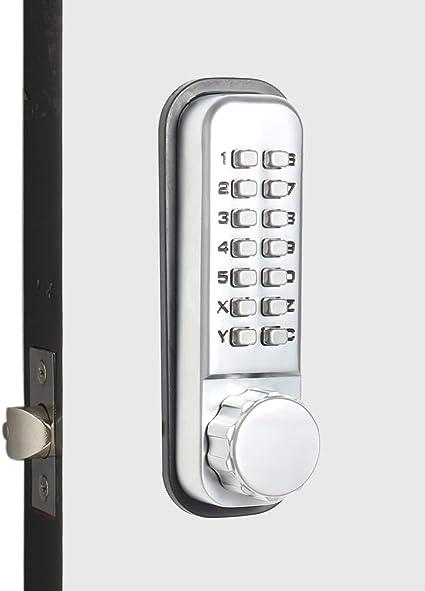 Mechanical Push Button Keyless Door Entry Lock