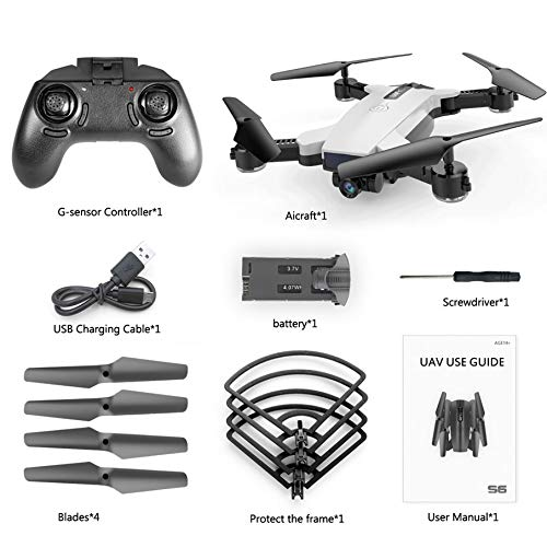 KNOSSOS S6 720P WiFi Camera Quadcopter Altitude Hold Optical Flow Positioning Drone - Weiß
