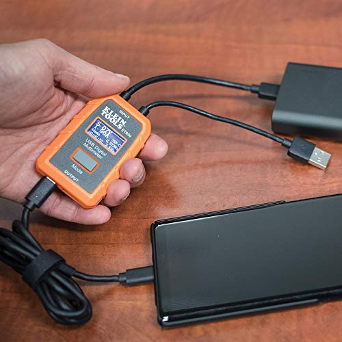Klein Tools ET920 USB Power Meter, USB-A and USB-C Digital Meter for Voltage, Current, Capacity, Energy and Resistance