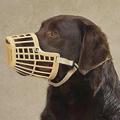 Guardian Gear Flexible Plastic Dog Basket Muzzle, 3X-Small, Beige