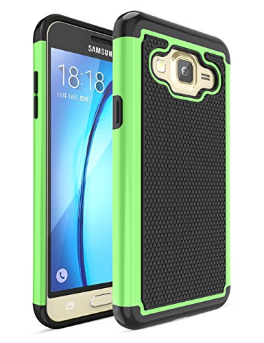Galaxy J3 Case, Express Prime Case,TILL [Resilient Series] Shock Absorbing Hybrid Rubber Plastic Impact Defender Rugged Slim Case Cover For Samsung Galaxy J3 / Express Prime / Amp Prime - Polymer Vs Plastic