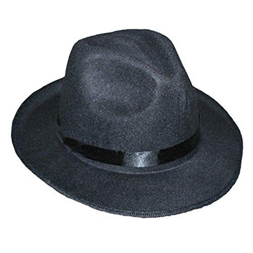 [Felt Black Ganster Hat] (Ganster Hat)