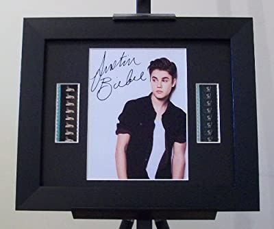 Justin Bieber Signed + Original Film Footage Framed by artcandi