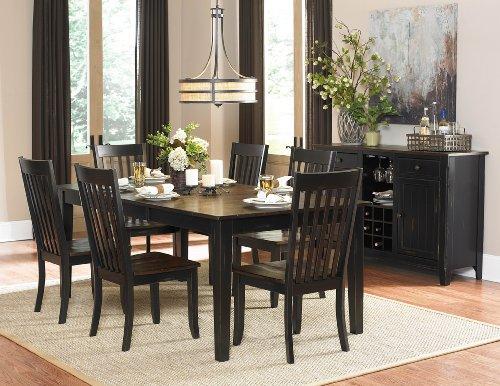 Three Falls Rectangular Dining Table in Dark Brown Black by Homelegance