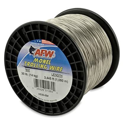 Image of American Fishing Wire Monel Trolling Wire, 30-Pound Test/0.56mm Dia/1050m Lead Core & Wire Line