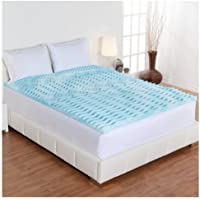 Twin XL Size Dream Form 2-inch Orthopedic 5-zone Cooling Gel Foam Mattress Topper Pressure Relief by Dream Form