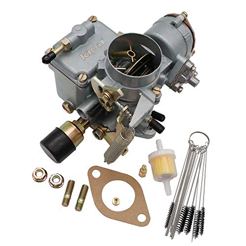 KIPA Carburetor For VW Beetles Super Beetles 1971-1979 Dual Port 1600cc Engine 12V Electric Choke 34 PICT-3 Volkswagen Bug Bus Thing Karmann Ghia Squareback Transporter, OEM # 113129031K - Electrical Engine Vw