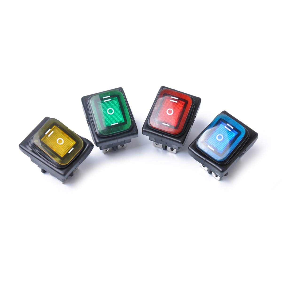 Waterproof 12V On-Off-On 6 Pin Car Boat LED Light Rocker Toggle Latching Switch