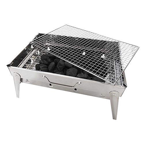 KitchenWorthy Stainless Steel Folding BBQ Grill, The Breifcase Grill