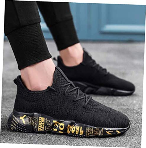 Shoes Black Size 7.5 Men Sport Trail Running Shoes Athletic Sneakers Mesh Breathable Tennis Sneakers