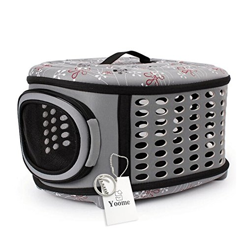 Yoome Hard Cover Pet Carrier – Collapsable Pet Travel Kennel for Cats, Small Dogs & Rabbits,Portable and Breathable,3 Colors for Choose