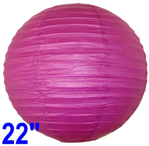 "Fuchsia Purple Chinese/Japanese Paper Lantern/Lamp 22"" Diameter - Just Artifacts Brand"