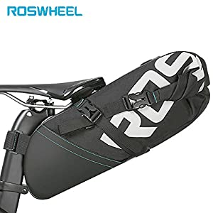 Roswheel 8L Bicycle Bike Bag cycling accessories Tail Bag Wrap up Closure Volume Seat Post Storage Pack MTB Road Pannier Pouch