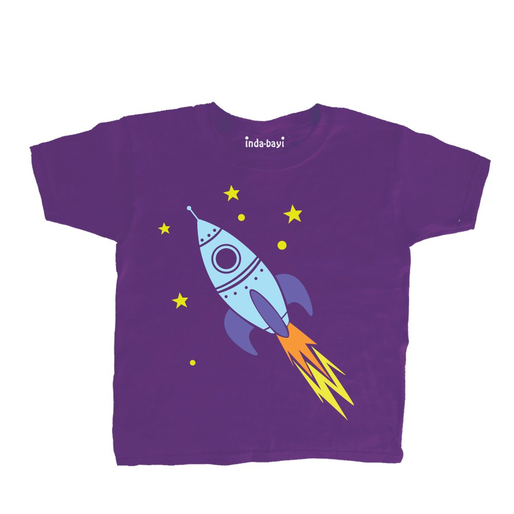 Inda-Bayi Baby-Toddler-Kids Cotton T Shirt Rocket
