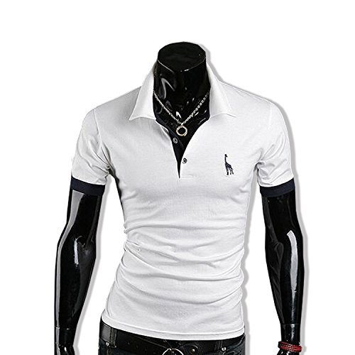 KMAZN ポロシャツ メンズ 半袖 Tシャツ 胸刺繍 ニット ゴルフウェア スポーツ カジュアルウェア 春 夏 秋