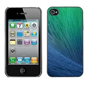 Cubierta de la caja de protección la piel dura para el Apple iPhone 4 / 4S - ocean surfing wave sun summer blue
