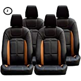 Khushal Leatherite Car Seat Cover for Renault Kwid KS009RKWID Black/Yellow