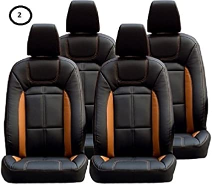 Khushal Car Seat Cover For Renault Kwid Front And Back Car Seat Covers Set With Free Steering Cover Ks009rkwid